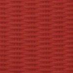Bright Red | Flat Flat 6mm - Fine Ribbed