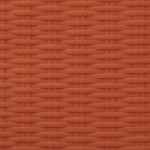Bright Orange | Flat Flat 6mm - Fine Ribbed
